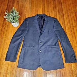 Kenneth Cole Blue Suit Jacket Slim Fit Blazer 40L